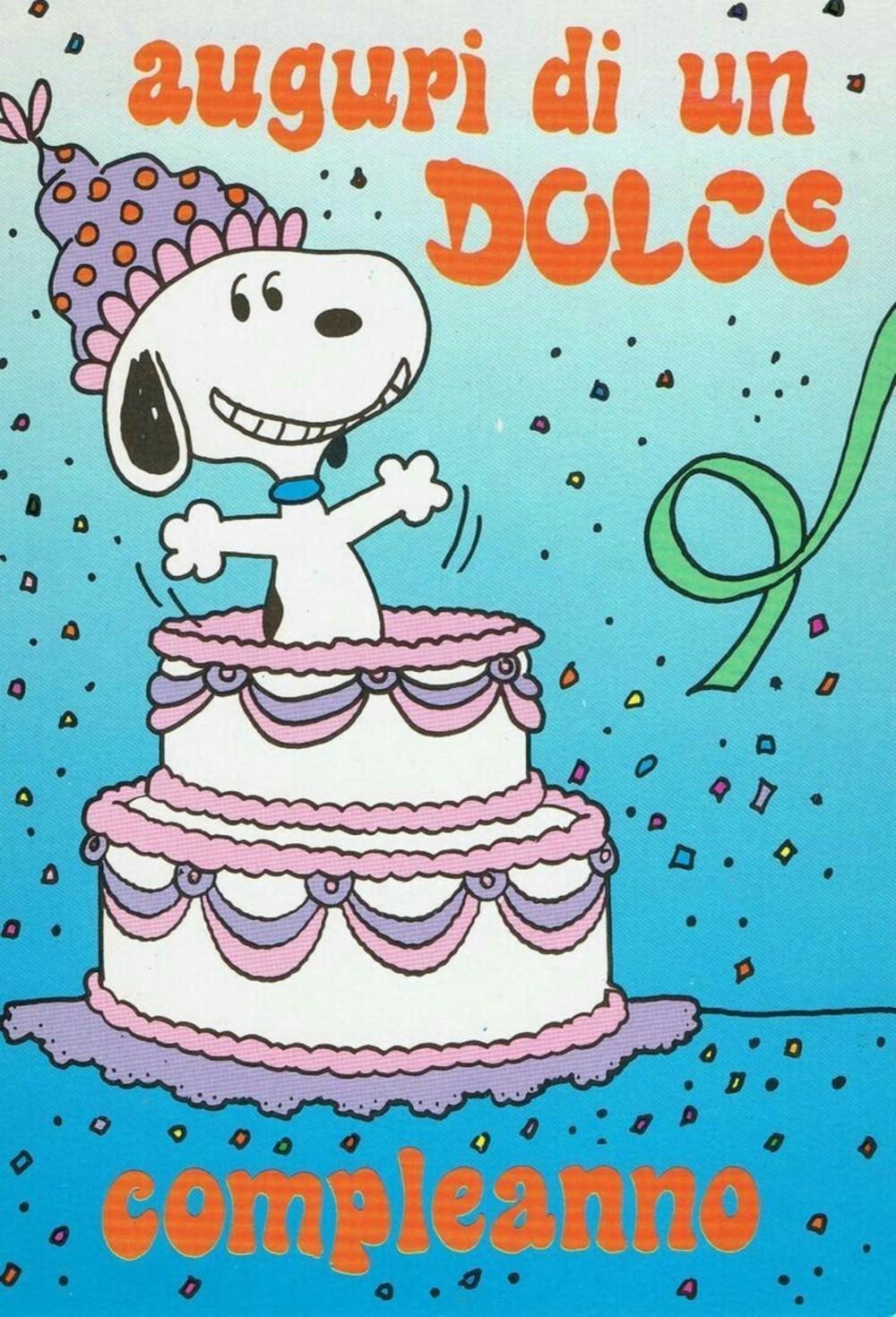 Auguri di un dolce Compleanno da Snoopy