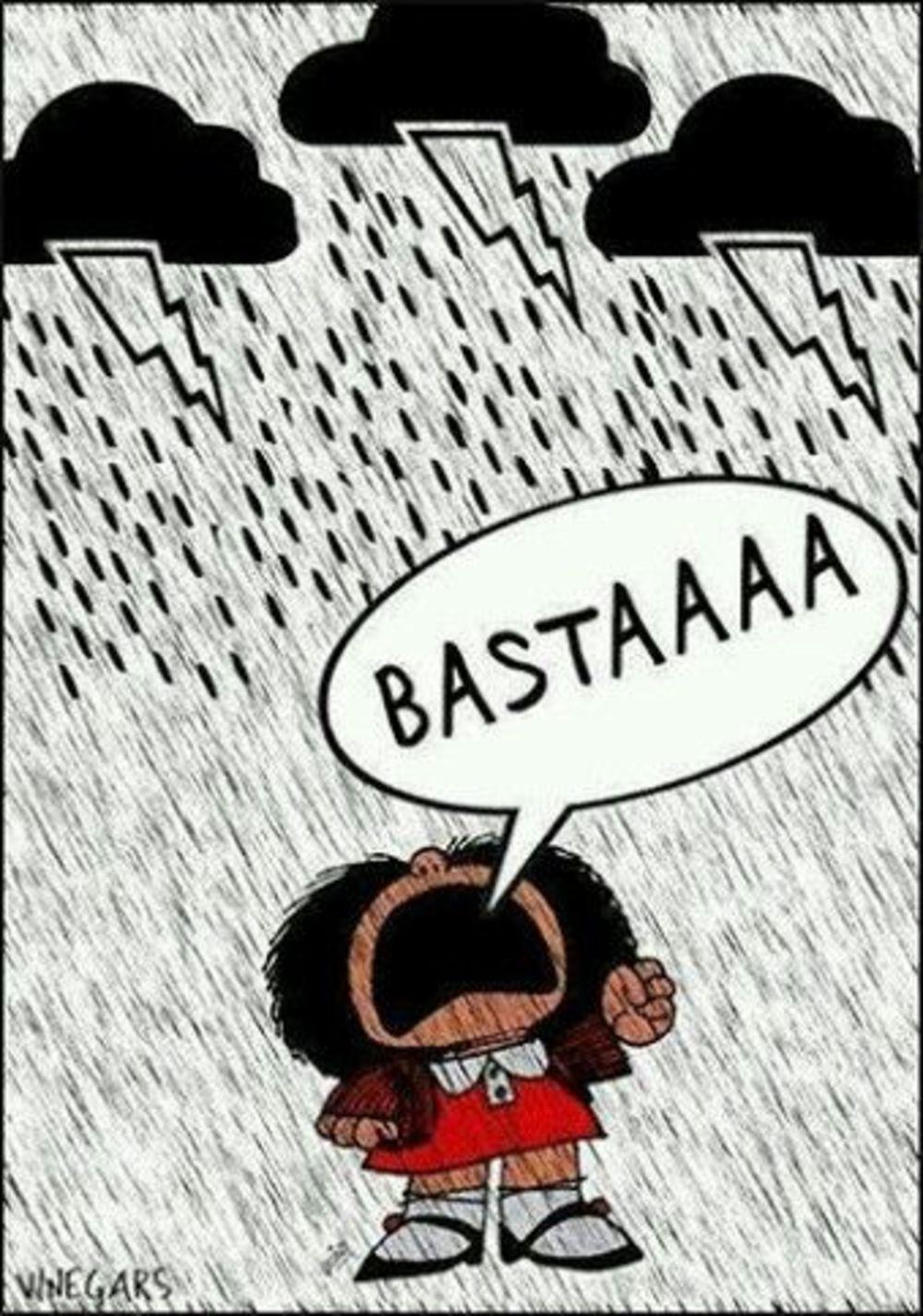 Buongiorno con la pioggia (Mafalda)