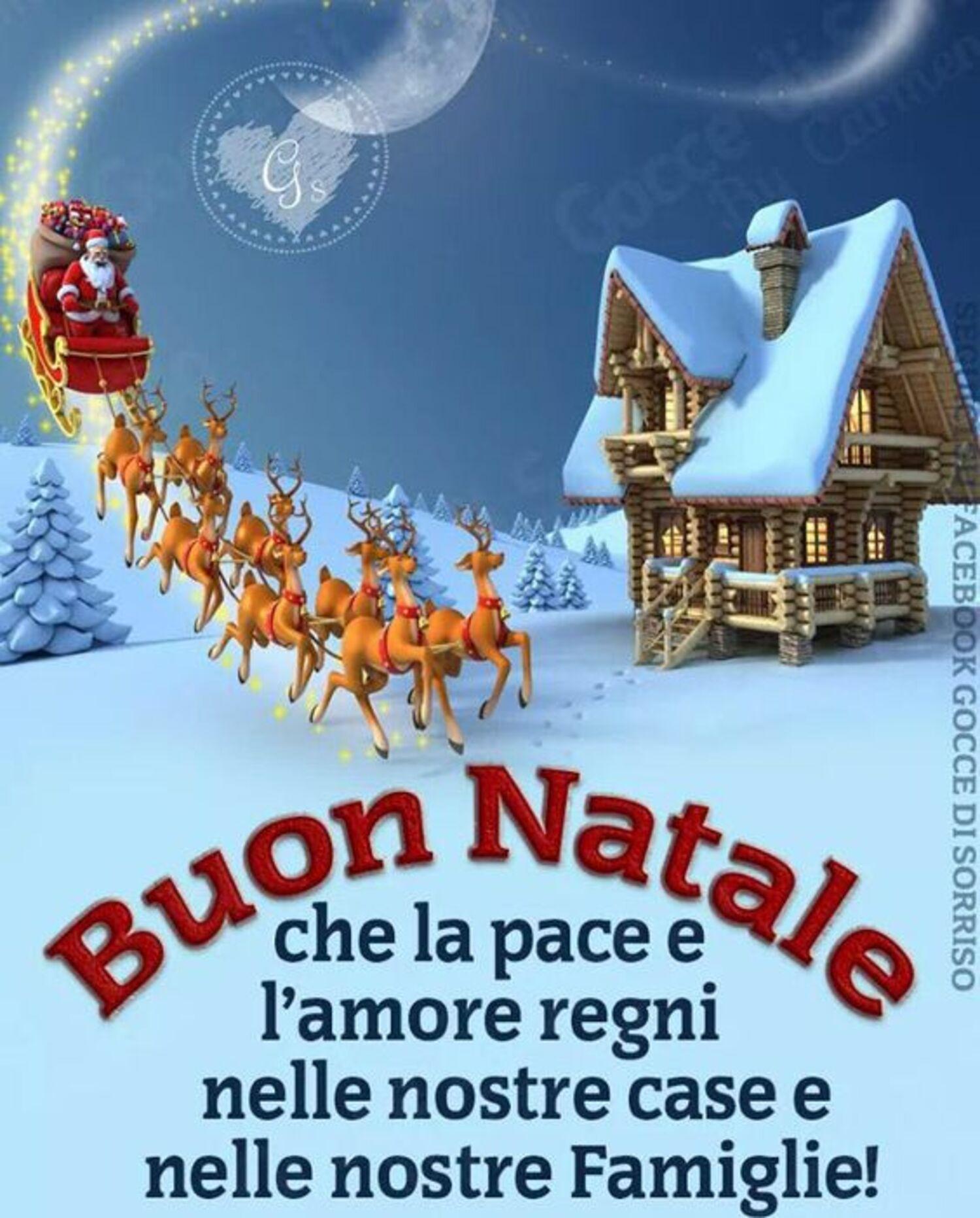 Buon Natale, che la pace e l'amore regni nelle nostre case e nelle nostre famiglie!