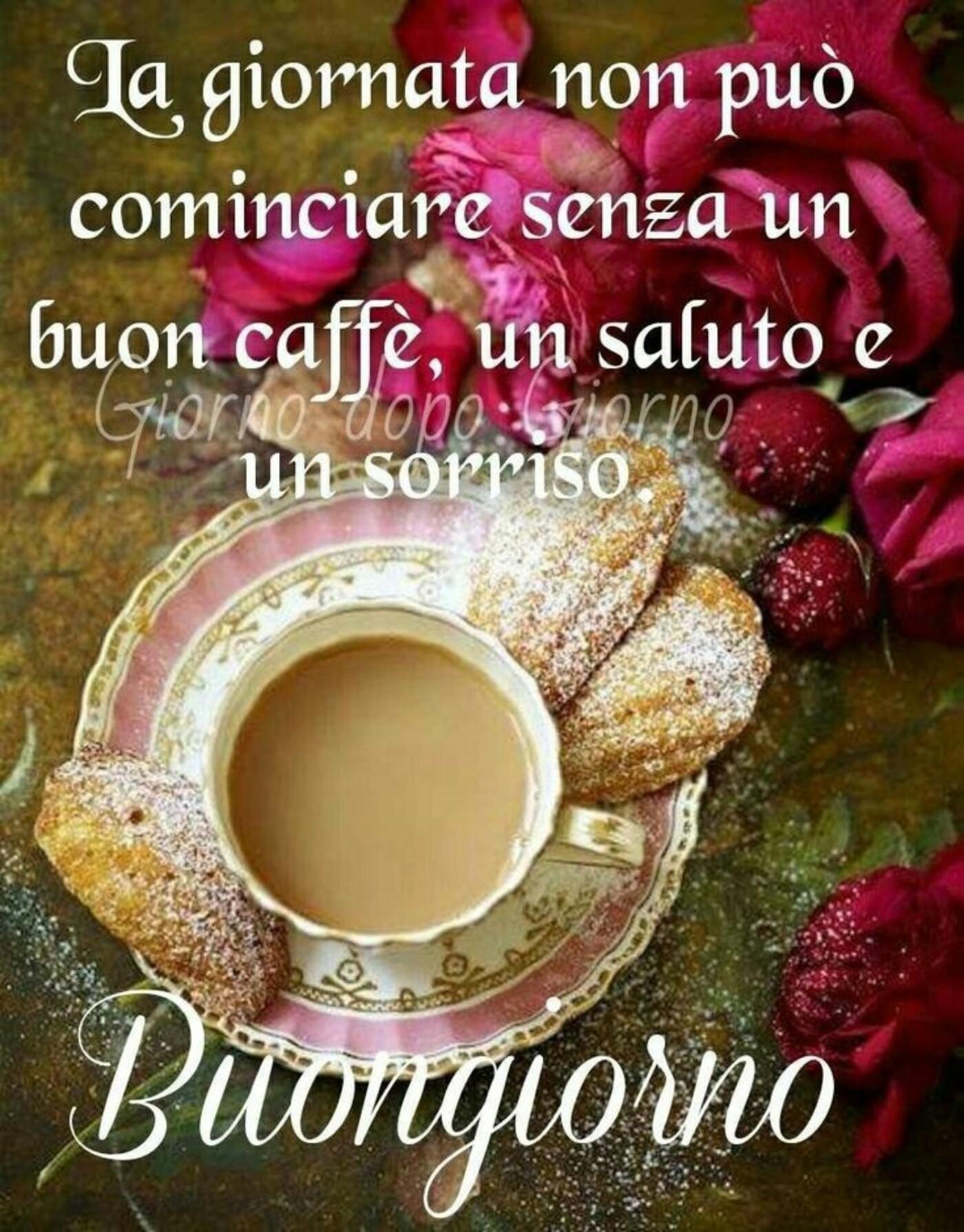 La giornata non può iniziare senza un buon caffè, un saluto e un sorriso. Buongiorno