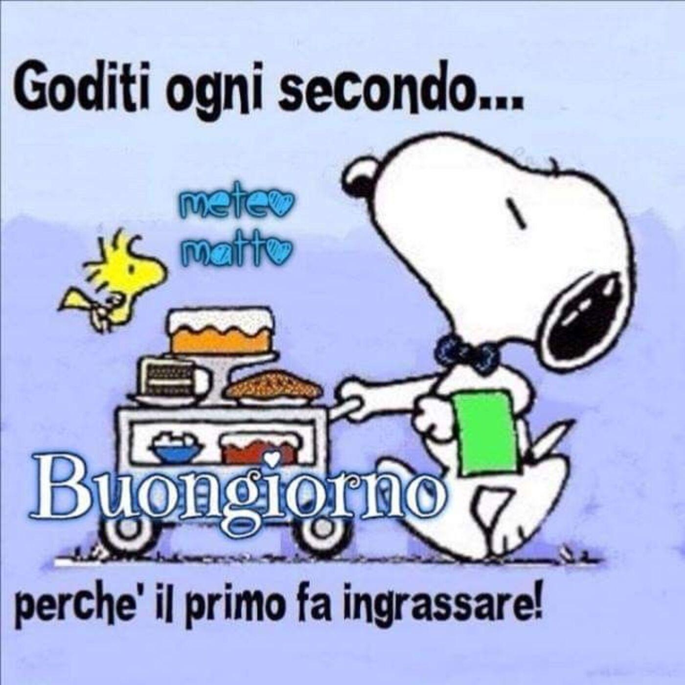 Buongiorno immagini divertenti con Snoopy