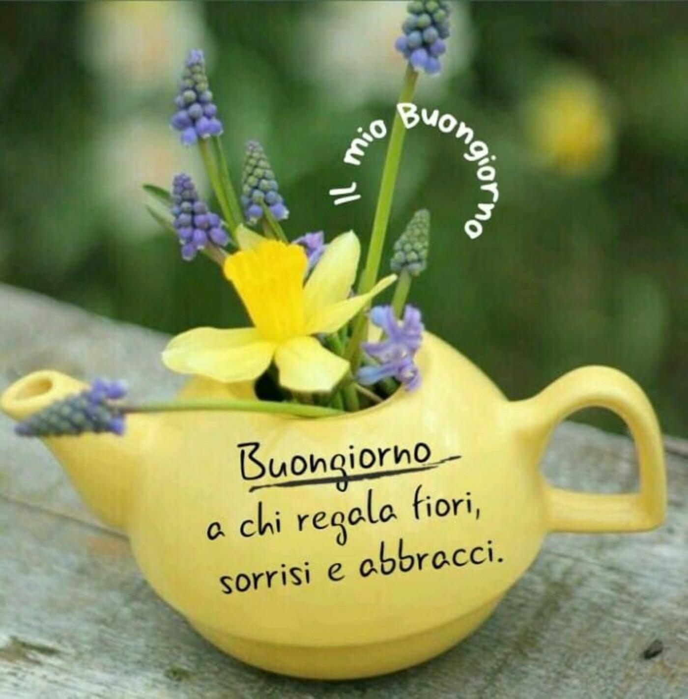 Buongiorno a chi regala fiori, sorrisi e abbracci.