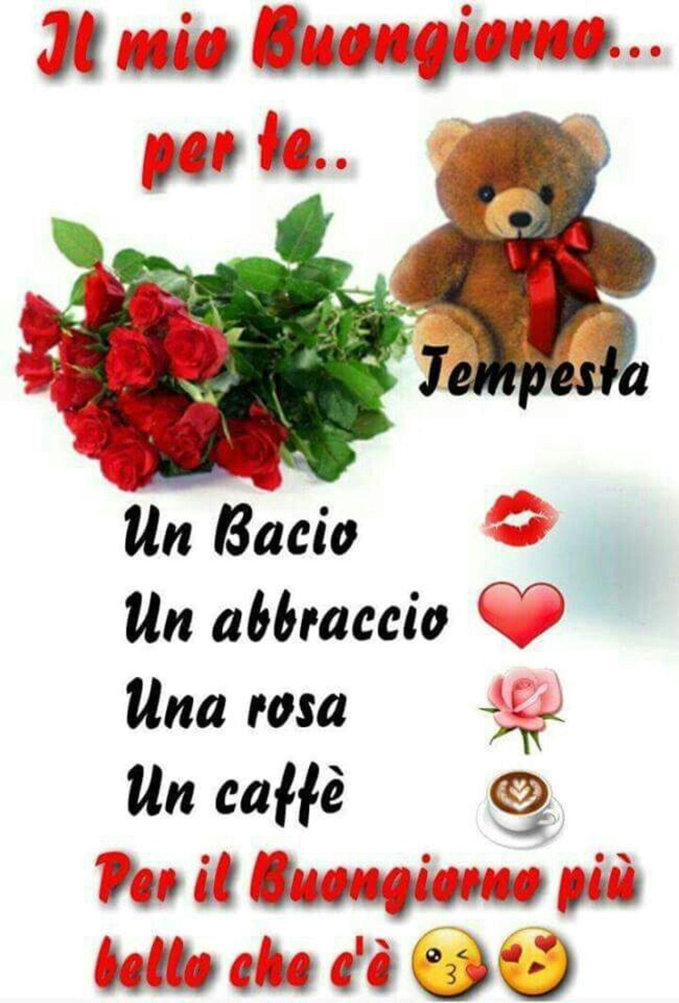 Il mio Buongiorno per te... un bacio... un abbraccio... una rosa... un caffè... per il Buongiorno più bello che c'è