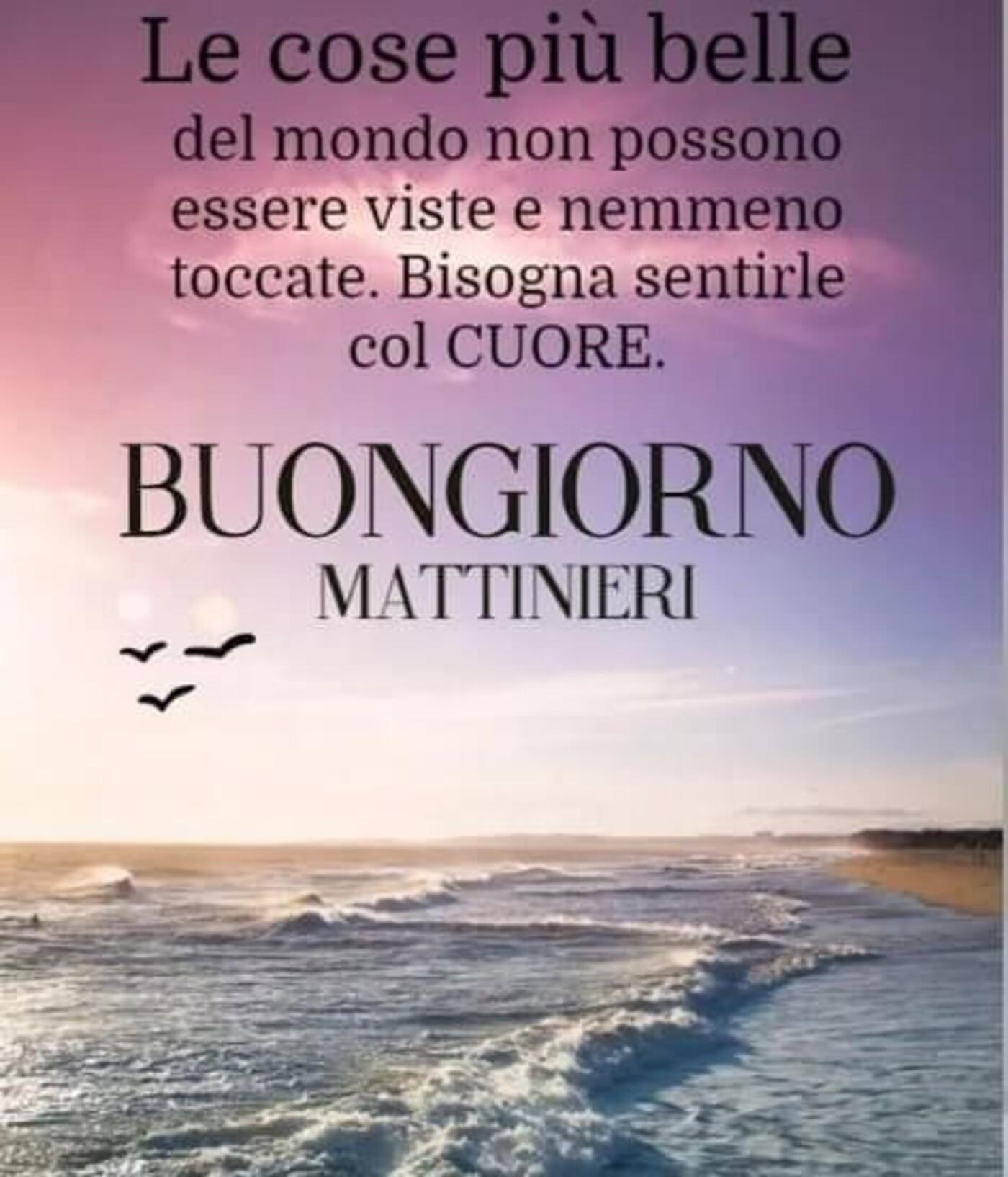 """""""Le cose più belle del mondo non possono essere viste... Buongiorno Mattinieri"""""""