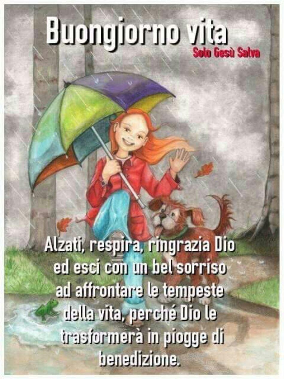 Frasi di Buongiorno con la pioggia