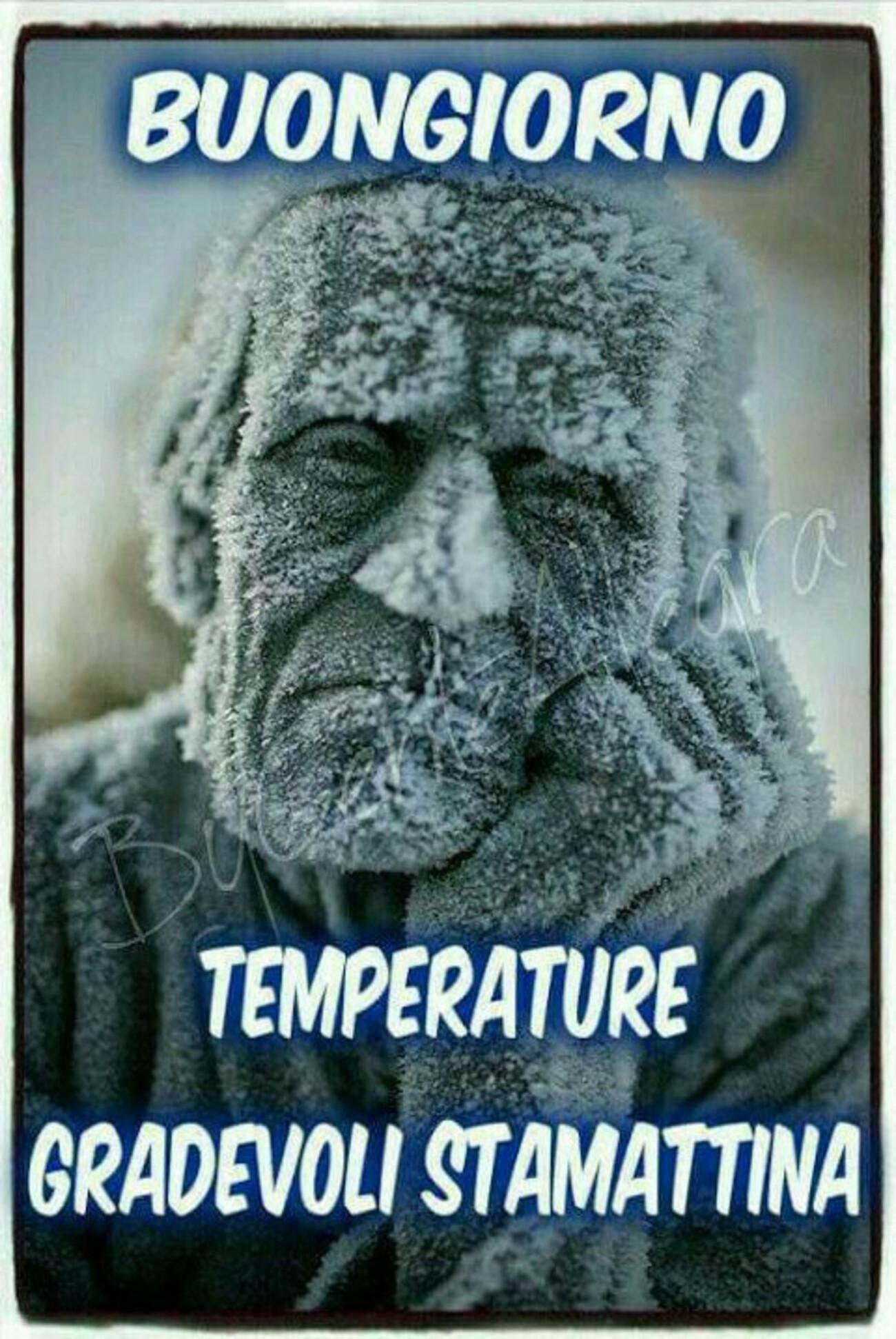 Buongiorno temperature gradevoli stamattina