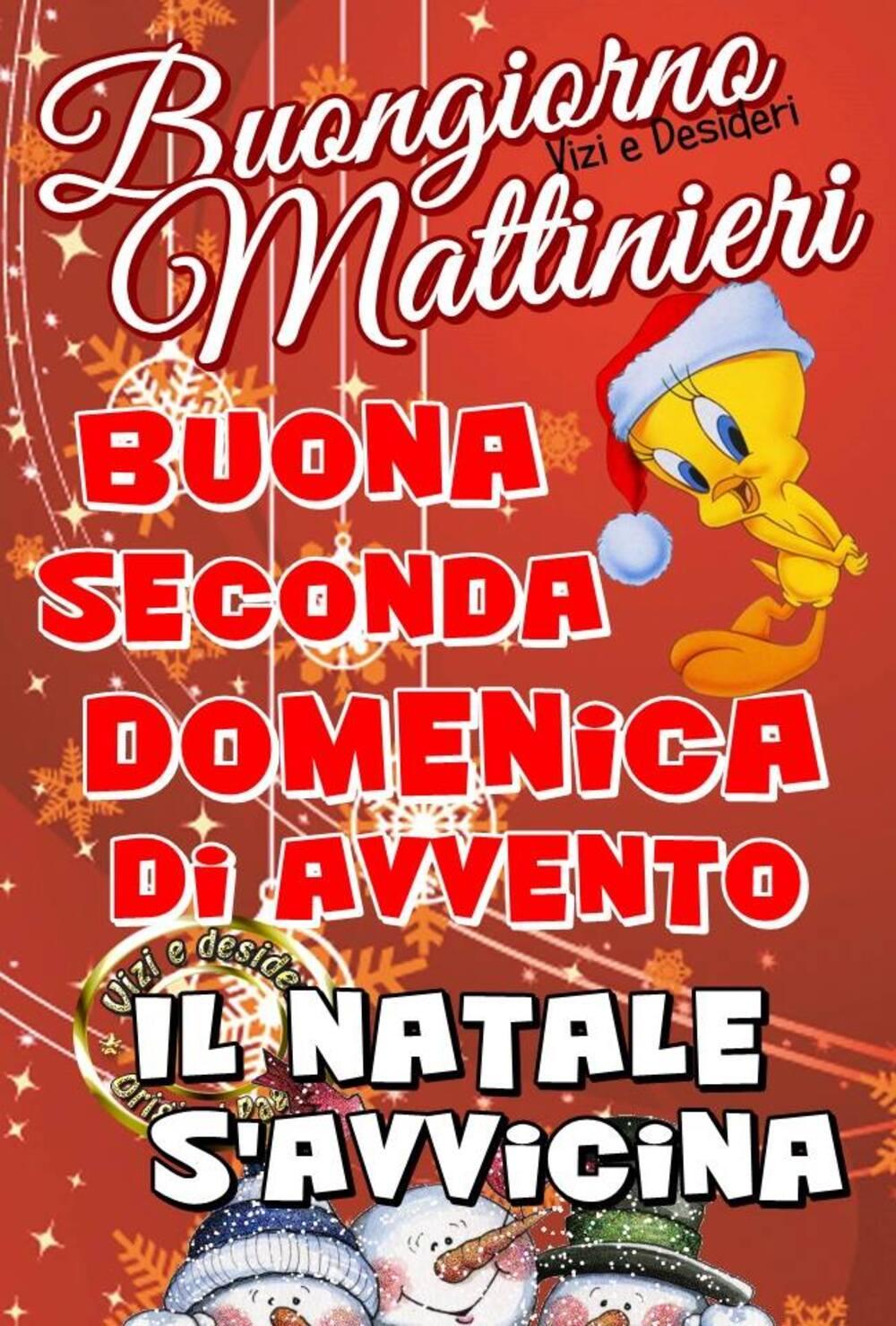 Buongiorno Mattinieri, Buona Seconda Domenica di Avvento, il Natale s'avvicina