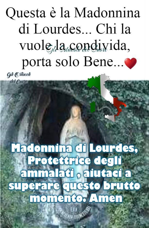 Madonnina di Lourdes, Protettrice degli ammalati, aiutaci a superare questo brutto momento. Amen