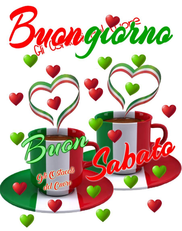 Buona Giornata e Buon Sabato con i colori della bandiera italiana