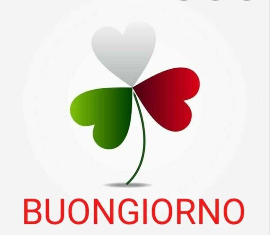 Buongiorno immagini con i colori della bandiera italiana