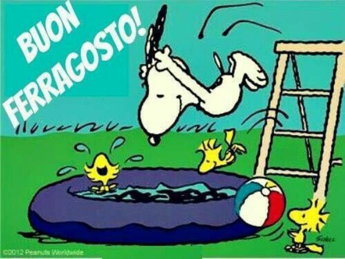 """Snoopy: """"Buon Ferragosto!"""""""