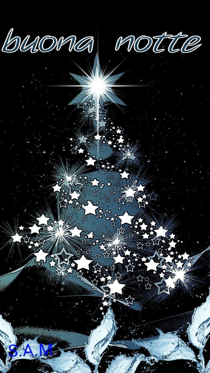Buona Notte con l'albero di Natale