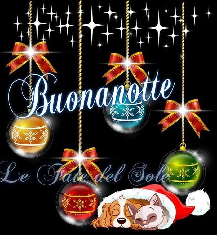 Buonanotte con le decorazioni di Natale