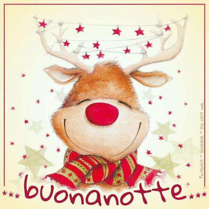 Buonanotte con la renna di Natale