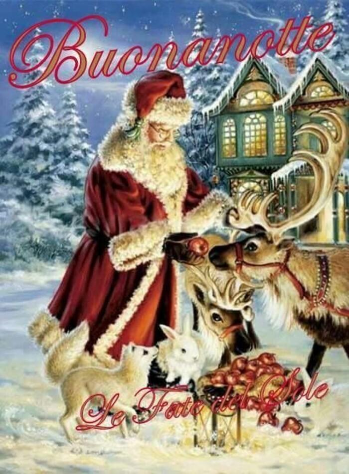 Bellissime immagini della Buonanotte con Babbo Natale